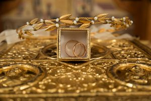 Vintage gouden verlovingsring